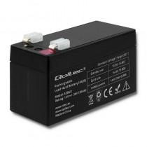 Qoltec Akumulator AGM | 12V | 1.3Ah | max.0.39A