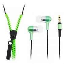 LogiLink słuchawki stereo z mikrofonem Zipper (zielone)