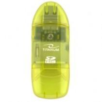 Esperanza TITANUM TA101G - Czytnik Kart SDHC/MiniSDHC/MicroSDHC/RS/MM ZIELONY USB 2.0