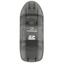 Esperanza TITANUM TA101K - Czytnik Kart SDHC/MiniSDHC/MicroSDHC/RS/MM CZARNY USB 2.0