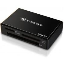 Transcend czytnik kart USB 3.0/2.0, Black + Recovery Software