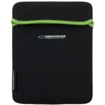 Esperanza ET172G - Etui na Tablet 9,7'' 4:3 | Czarny / Zielony| GRUBY Neopren