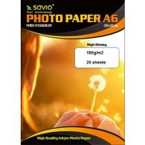 Elmak Papier fotograficzny SAVIO PA-01 A6 180/20 błysk