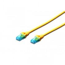 Digitus Kabel patch cord UTP, CAT.5E, żółty, 0.5m, 15 LGW