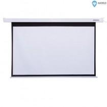 4World Ekran projekcyjny z pilotem, elektryczny, ścienny/sufitowy, 144x81 (16:9) biały matowy