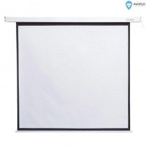 4World 09461 Elektryczny ekran projekcyjny z pilotem 159x90 (16:9) biały mat