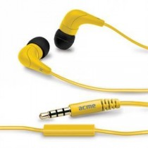 Acme Słuchawki z mikrofonem douszne HE15Y żółte