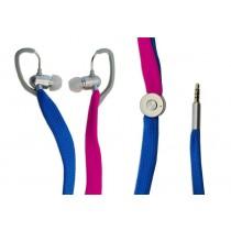 Typhoon UniqueLace zestaw słuchawkowy z mikrofonem kolor niebiesko/różowy