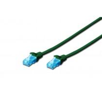 Digitus Patch cord U/UTP kat.5e PVC 0,5m zielony