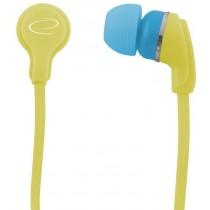 Esperanza EH147Y NEON - Słuchawki Douszne Audio Stereo Żółte