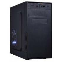 EUROcase skříň MC X201 black, micro tower, 2x USB, 2x audio, bez zdroje