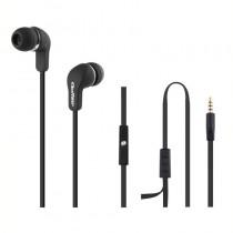 Qoltec Słuchawki douszne + mikrofon   czarne
