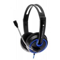 Esperanza EH153B HORNET - Słuchawki Stereo z Mikrofonem i Regulacją Głośności