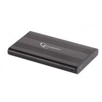 Gembird obudowa USB 2.0 na dysk HDD/SSD 2.5'' SATA, aluminiowa, czarna
