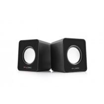 ModeCom Głośniki 2.0 LS-09 (czarne) [ stereo ]