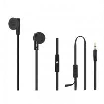 Qoltec Słuchawki douszne + mikrofon, czarne,okrągłe