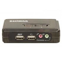Edimax KVM USB SOHO Switch dla 2 komputerów (kable w zestawie)