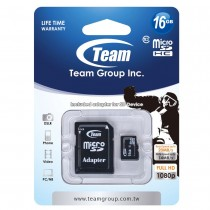 Team Group Karta Pamięci Micro SDHC 16GB Class 10 +Adapter