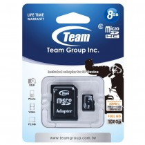 Team Group Karta Pamięci Micro SDHC 8GB Class 10 +Adapter