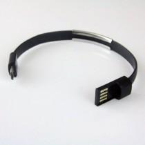 Global Technology KABEL USB microUSB BRANSOLETKA czarna