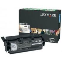 Lexmark X651H11E Toner black zwrotny 25000 str. X651de/X652de/X654de/X656de/X656dte