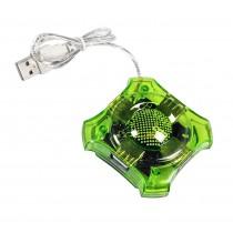 Esperanza Hub USB 2.0 4 porty Star zielony