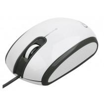 Gembird Mysz przewodowa optyczna 1-Scroll biało-czarna