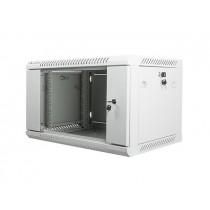 Lanberg szafa wisząca rack 19'' 6U 600x450mm szara (drzwi szklane)