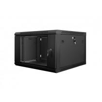 Lanberg szafa wisząca rack 19'' 6U 600x600mm czarna (drzwi szklane)