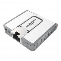 MikroTik Punkt dostępu MAP LITE RBMAPL-2ND 650MHZ, 64MB, 1XFE, 2X2MIMO, 2,4GHZ, L4