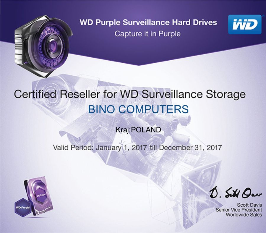 Certified Reseller for WD Surveillance Storage